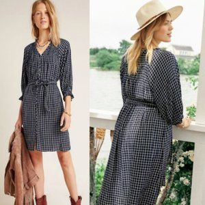 NWOT Anthropologie Sara Smocked Shirtdress Dress